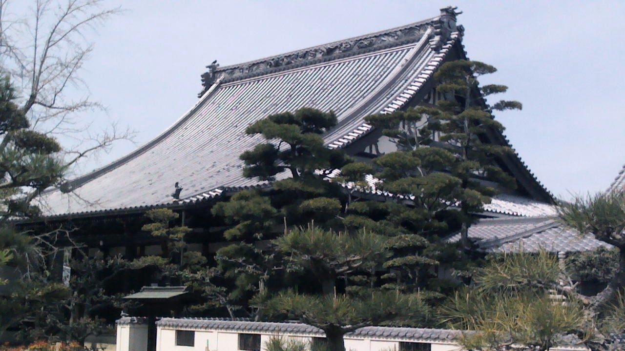 Building picture of Japanese Buddhist temple (Enryuji)