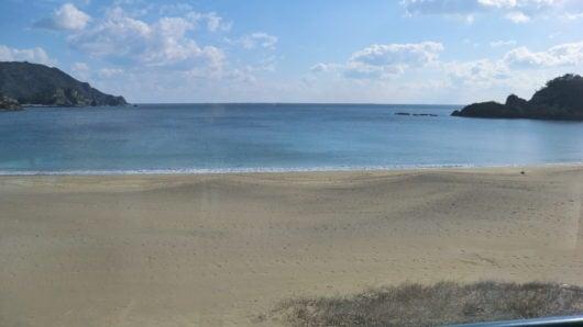 大浜海岸を見下ろす