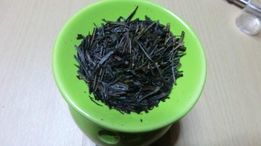 アロマポットで焙じた茶葉