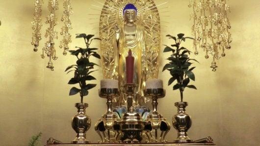 阿弥陀仏像お仏飯を2つ