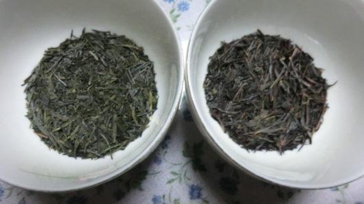 緑茶と焙じ茶(ほうじ茶)