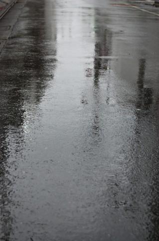 走り梅雨の一日中の雨