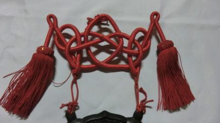 仏具。磬(けい)の飾り結び