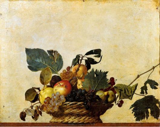 カラヴァッジョの「果物籠」。求道の挿絵