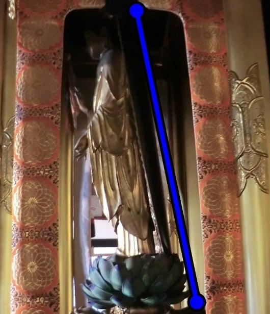 阿弥陀如来の立像(仏像)はなぜ前傾姿勢なのか。