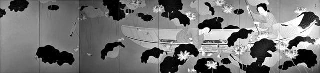 日本画蓮華(1917年製作) 菊池契月