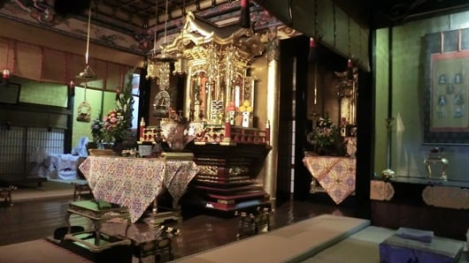 Tomorrow's Buddhist memorial service preparation in my temple.