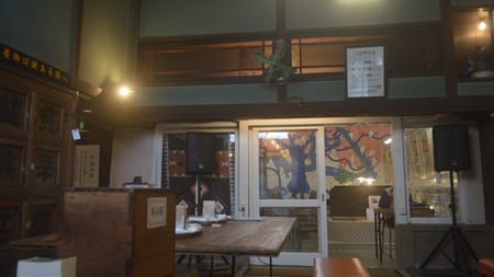 Cafe of hot spring space.