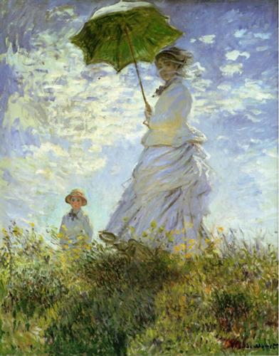 クロード・モネの《散歩、日傘をさす女性》1886年の作品