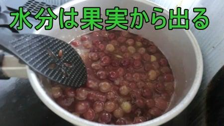ジャムを作る時は水を足さない。加熱すると果実から水分が出るから。