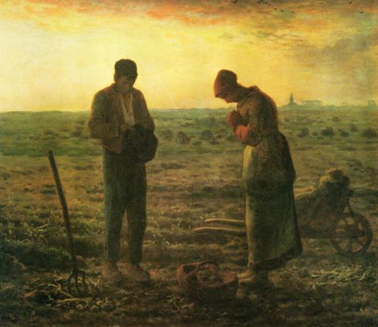 フランソワ・ミレーの1859年作成『晩鐘』