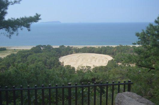 Kagawa prefecture Kanonji has a huge sand sculpture