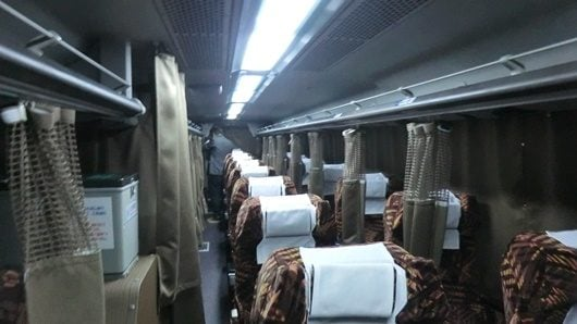 The overnight bus in Japan is difficult to sleep